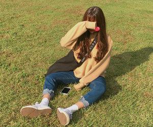 casual, girl, and korean image