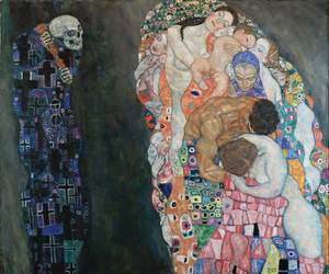 art, Gustav Klimt, and death image