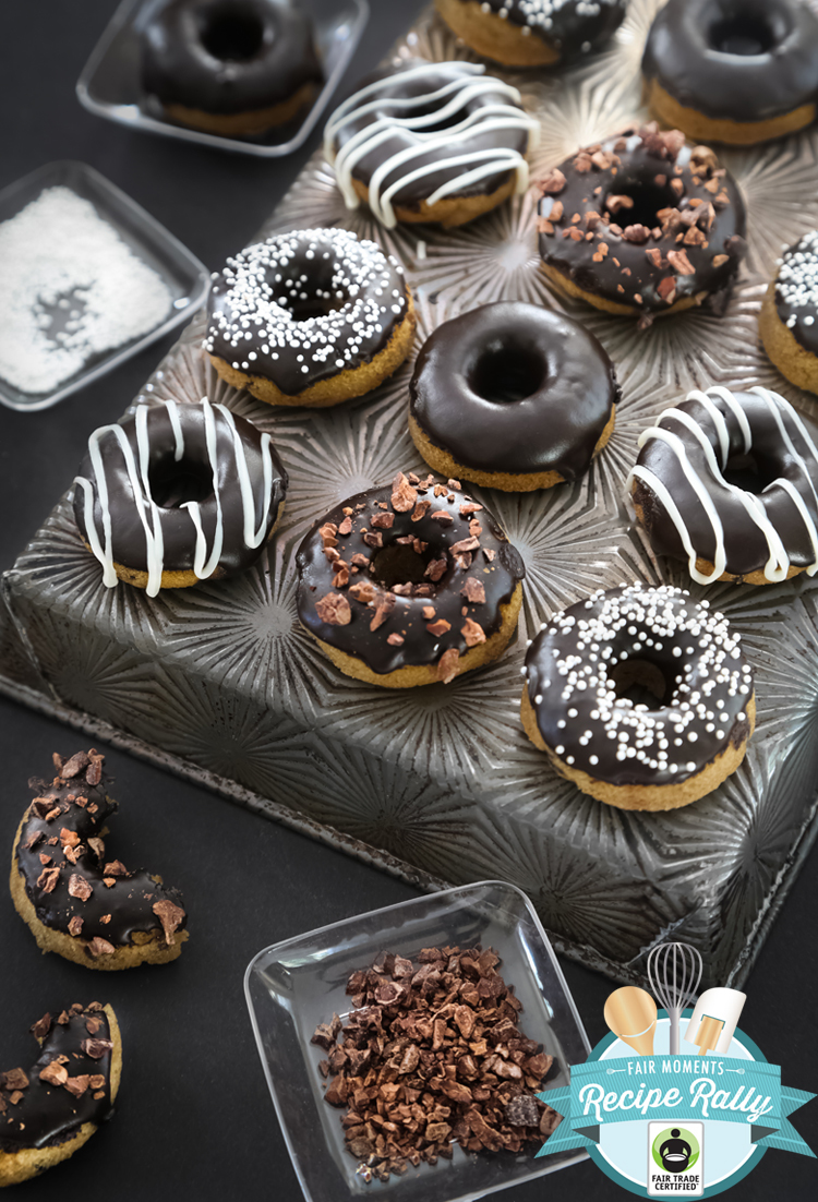 Chocolate Glazed Coconut Flour Doughnuts on We Heart It