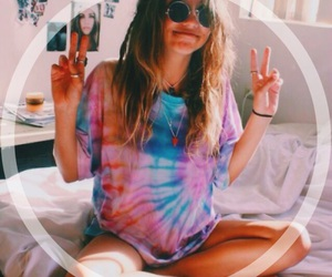 girl and peace image