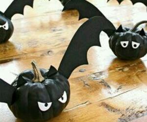 Halloween, pumpkin, and bat image