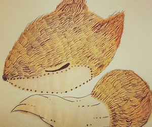 drawing, fox, and illustration image
