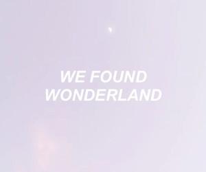 quotes, purple, and wonderland image