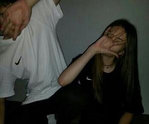 couple, nike, and grunge image