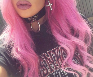 colorful hair, Piercings, and pink hair image
