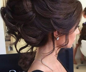 hairstyle, hair, and wedding image