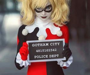 harley quinn, batman, and cosplay image
