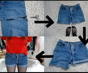 diy, jeans, and short image