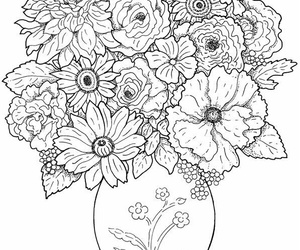 ่art and adult coloring image