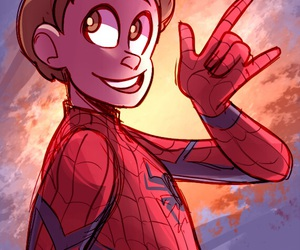 drawing, Marvel, and spiderman image