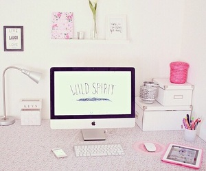 pink, room, and apple image