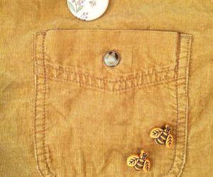 yellow, bees, and pins image