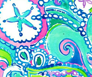 blue, wallpaper, and lilly pulitzer image