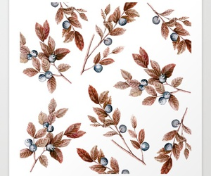 blueberries, leaves, and patterns image