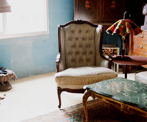 vintage, chair, and interior image