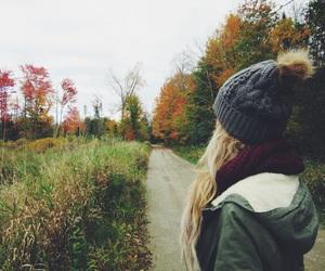 adventure, autumn, and blonde image