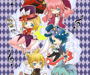 alice in wonderland, hatsune miku, and manga image