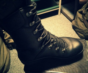 army, boots, and leather image