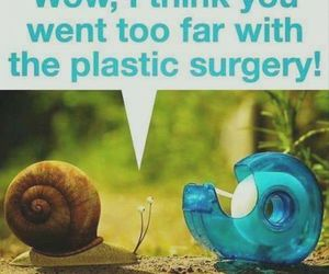 funny, plastic surgery, and snail image