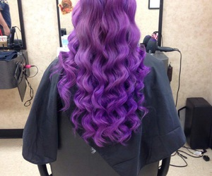 curls, girls, and purple image