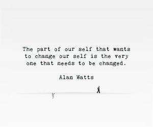 alan watts, change, and ideal image