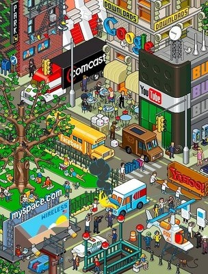 advertising, pixel, and city image