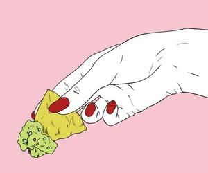 pink, hand, and food image