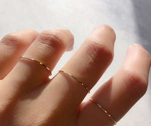 gold, rings, and hand image