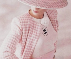 chanel, pink, and vintage image