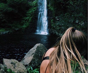 girl, tropical, and nature image