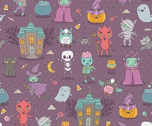 Halloween, wallpaper, and cute image