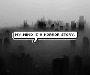 horror, mind, and grunge image