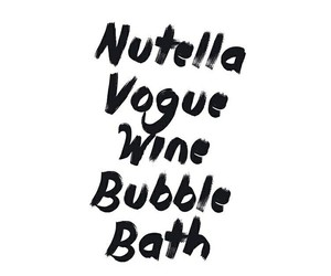 nutella, quotes, and vogue image