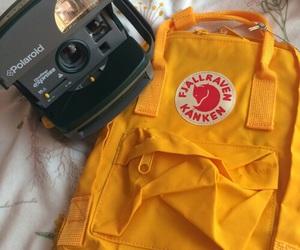 polaroid, yellow, and kanken image