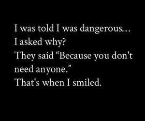 quote, dangerous, and sayings image