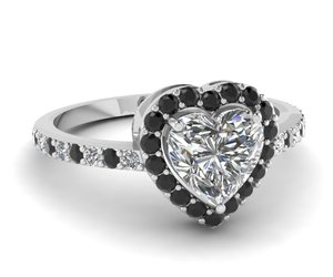 black diamond ring, halo engagement rings, and antique rings image