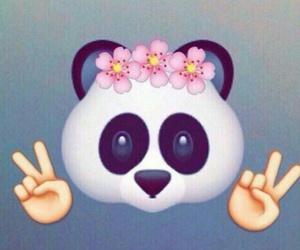 panda, emoji, and emojis image