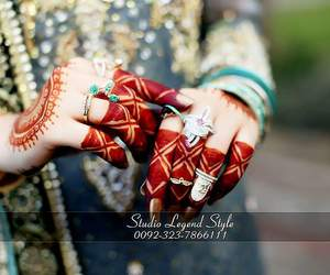 bridal, desing, and mehndi image
