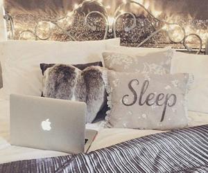 bedroom, bed, and sleep image