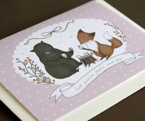 animals, forest, and greeting cards image