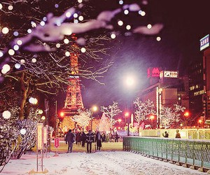paris, winter, and snow image