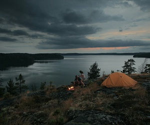 camping, nature, and tumblr image