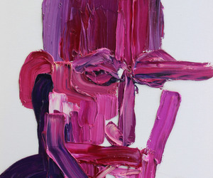 art, pink, and purple image