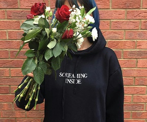 aesthetic, flowers, and grunge image