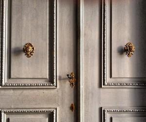 door and gold image