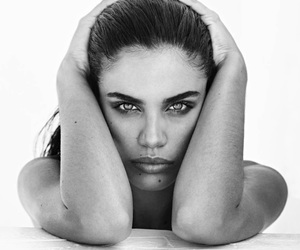 black and white, model, and sara sampaio image