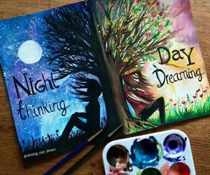 night, art, and drawing image