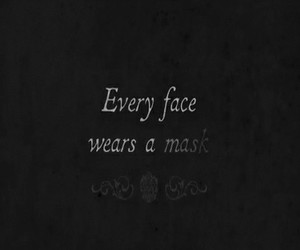 mask, face, and quotes image