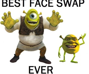funny, monsters inc, and face swap image
