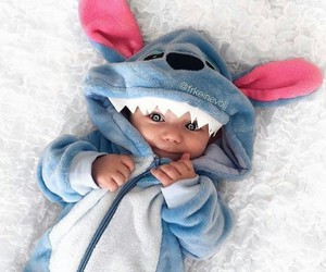 baby, cute, and stitch image